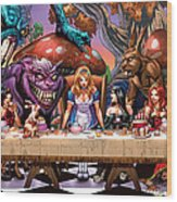 Alice In Wonderland 06a Wood Print by Zenescope Entertainment