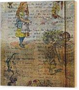 Alice's Adventures Wood Print