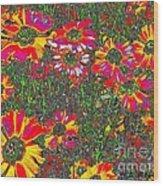 Alice's Garden Wood Print