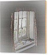Alice's Window Wood Print