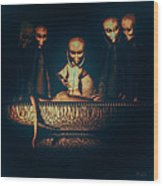 Alien Autopsy Alien Abduction Wood Print