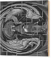 Alien Brain Wood Print