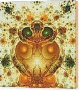 Alien Garden Wood Print