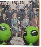 Alien Nostalgia Wood Print