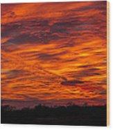Alien Sky Wood Print