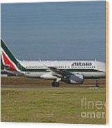 Alitalia Airbus A319 Wood Print