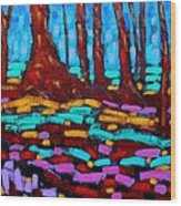 Alizarin Woods Wood Print