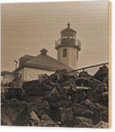 Alki Lighthouse Wood Print