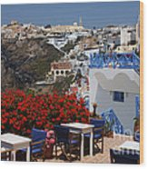 All About The Greek Lifestyle Wood Print