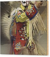 Pow Wow All About Time Wood Print
