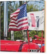 All American Wood Print by Bill Wakeley