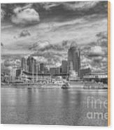 All American City 2 Bw Wood Print