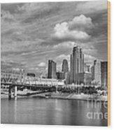 All American City 3 Bw Wood Print