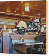 All American Diner 4 Wood Print