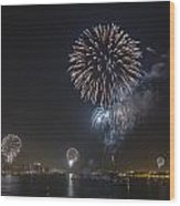 All At Once San Diego Fireworks Wood Print