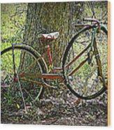 All Bike Out Wood Print