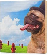 All Dogs Go To Heaven Wood Print