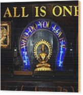 All Is One Wood Print