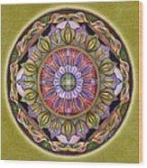All Is Well Mandala Wood Print