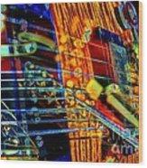 All Mixed Up Digital Guitar Art By Steven Langston Wood Print