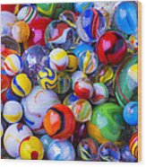All My Marbles Wood Print