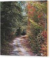 All Roads Lead Here Wood Print