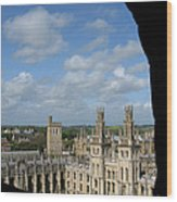 All Souls College And Beyond Wood Print