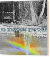 All The Answers Are Within... Wood Print