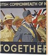 All The Commonwealth Countries Unite. Wood Print
