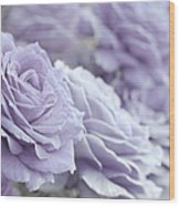 All The Lavender Roses Wood Print
