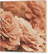 All The Orange Roses Wood Print