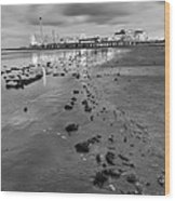 All The Roads Lead To The Pleasure Pier Wood Print