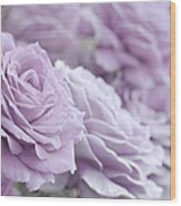 All The Soft Violet Roses Wood Print
