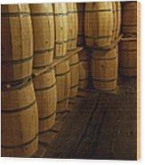 All The Wine Wood Print