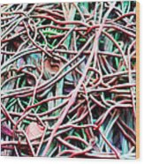 All Tied Up Abstract Art Wood Print