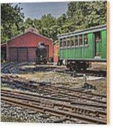 Allaire Rail Yard Wood Print