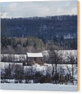 Allegany Winter Wood Print