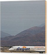 Allegiant At Palm Springs Airport Wood Print