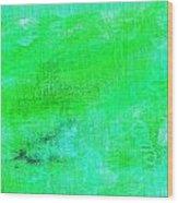 Allegory Aqua Green Wood Print