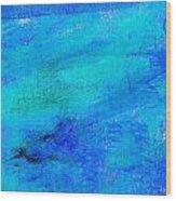 Allegory Blue Wood Print