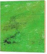 Allegory Emerald Green Wood Print