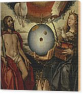 Allegory Of Christianity Oil On Panel Wood Print