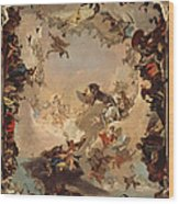 Allegory Of The Planets And Continents Wood Print