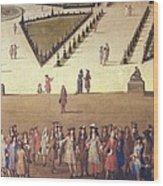 Allegrain, Etienne 1644-1736. Promenade Wood Print