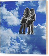Allen And Steve In Clouds Wood Print