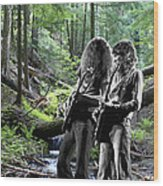 Allen And Steve On Mt. Spokane 2 Wood Print