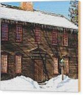Allen House Deerfield Ma Wood Print
