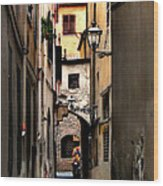Alley In Florence 1 Wood Print