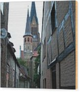 Alley In Schleswig - Germany Wood Print