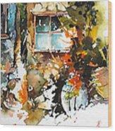 Alleyway Charm Wood Print